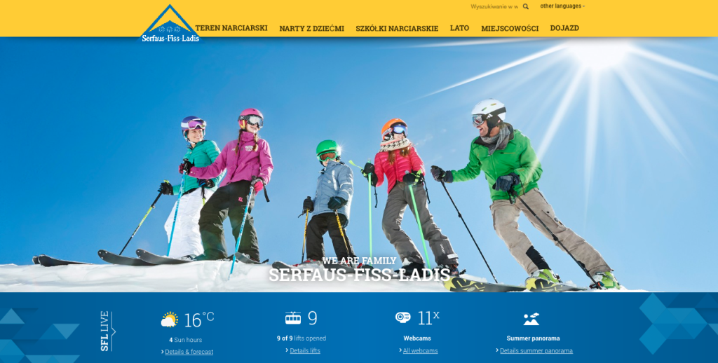 Biuro Podróży Reklamy przygotuje kampanię Serfaus-Fiss-Ladis