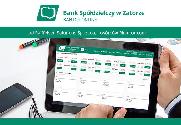 Twórcy Rkantor.com dostarczyli kantor online dla Banku Spółdzielczego w Zatorze