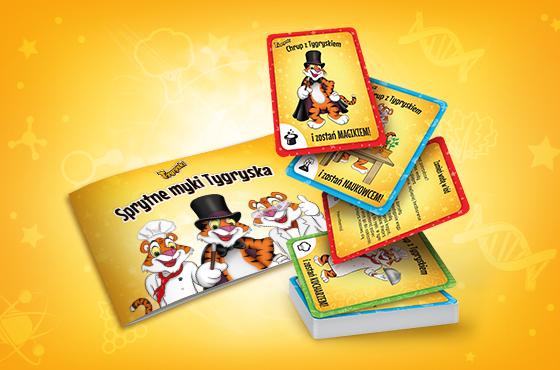 Półtora miliona kolekcjonerskich kart w paczkach Tygrysków deserowych barwionych owocami i warzywami