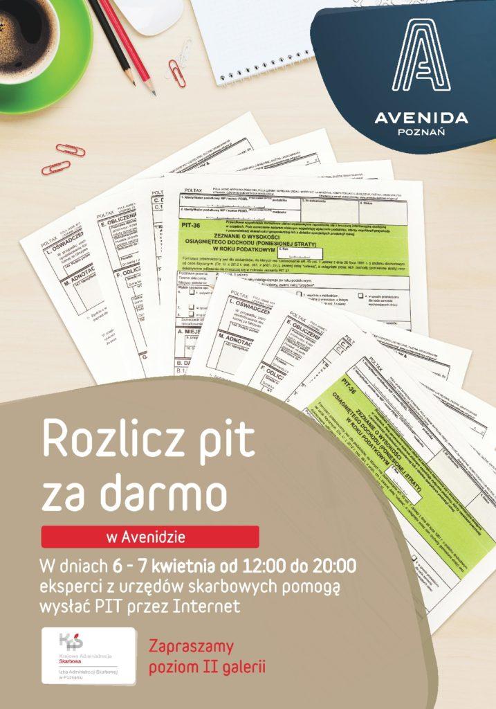 Rozlicz PIT za darmo w Avenidzie Poznań