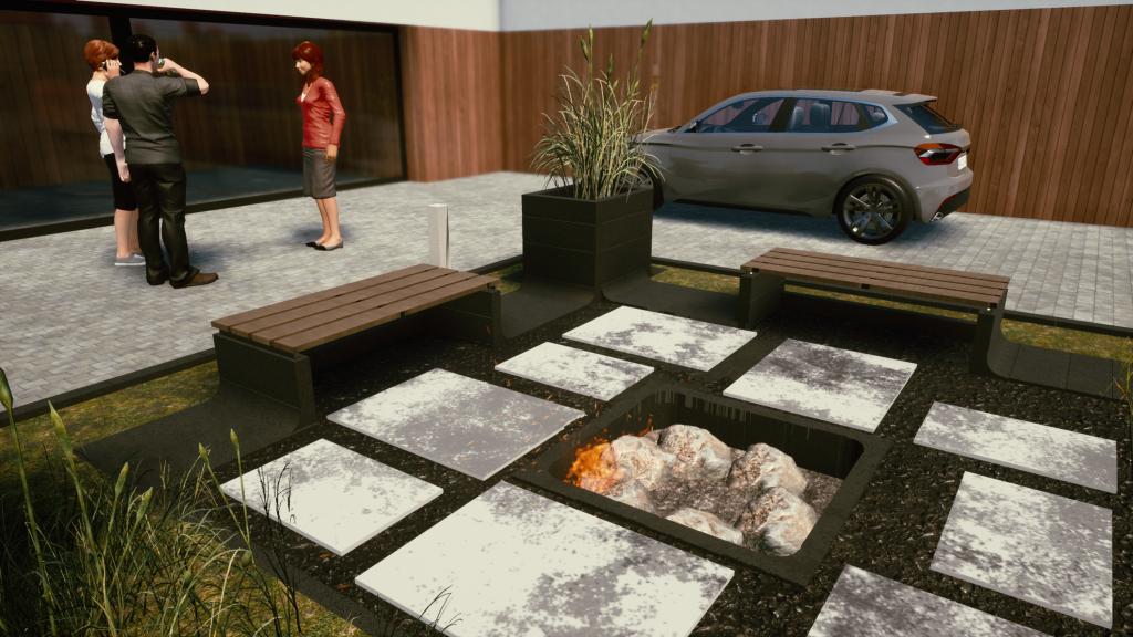Meble ogrodowe z betonowych prefabrykatów. Niesztampowe pomysły na strefę relaksu w ogrodzie.