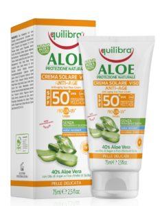 #musthave na lato! EQUILIBRA - Aloesowy przeciwzmarszczkowy krem przeciwsłoneczny SPF 50+ z filtrami UVB UVA. Anti-Aging i bardzo wysoka ochrona przeciwsłoneczna