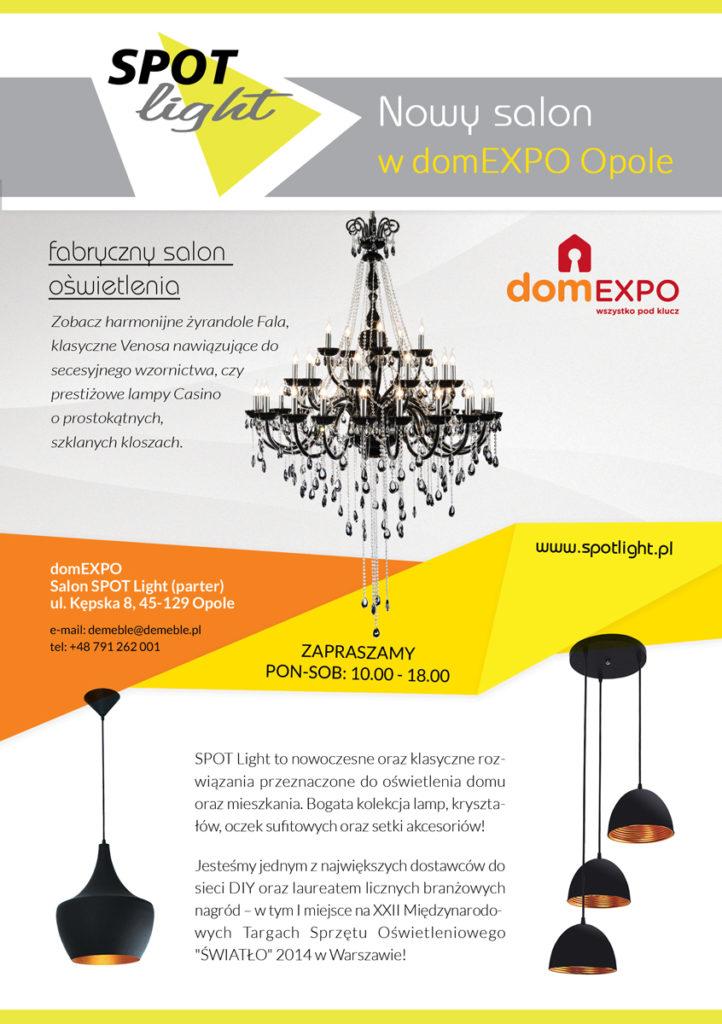 Nowy Fabryczny Salon Oświetlenia SPOT Light w domEXPO Opole!