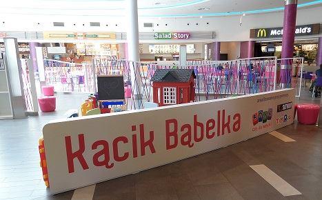 """""""Bąbelkowy kącik"""" w Poznań City Center"""