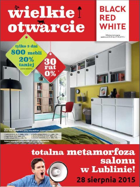 Metamorfoza salonu Black Red White w Lublinie