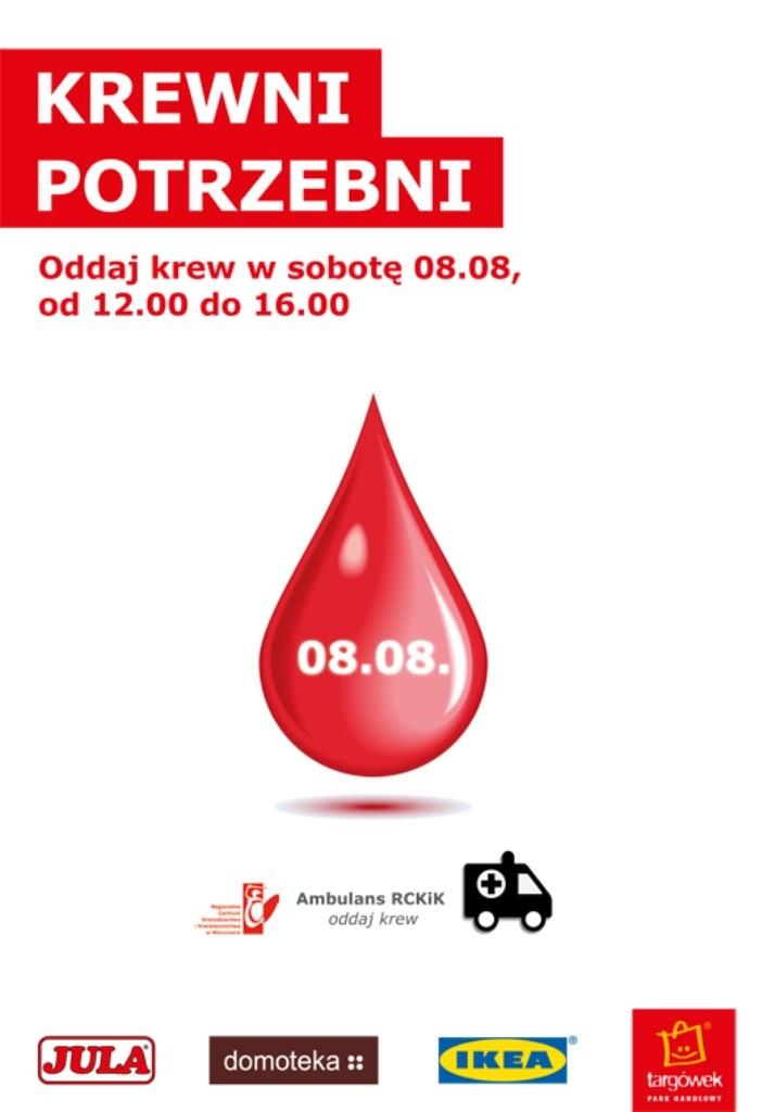 KREWni potrzebni – kolejna akcja zbiórki krwi