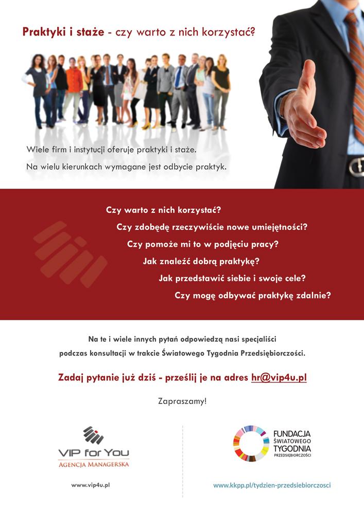 Agencja Managerska VIP for You – konsultacje w ramach ŚTP!
