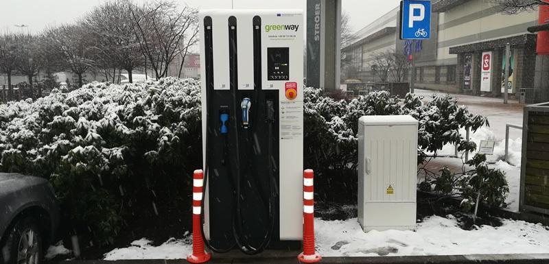 Silesia City Center ze stacją ładowania samochodów elektrycznych