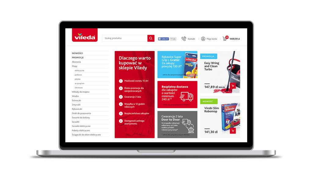 Sklep internetowy marki Vileda w nowej odsłonie! Wygodne zakupy zawsze i wszędzie