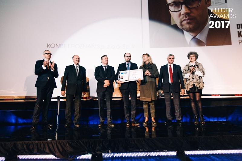 Builder Awards 2017 – KONBET Poznań Budowlaną Firmą Roku, Prezes Zarządu Artur Kisiołek Osobowością Branży