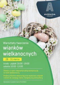 Moc wielkanocnej kreatywności, czyli warsztaty wianków w Avenidzie Poznań