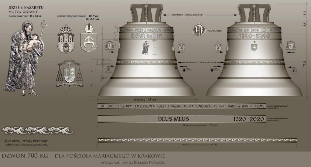 Dzwon Józef z Nazaretu na 700-lecie Bazyliki Mariackiej w Krakowie